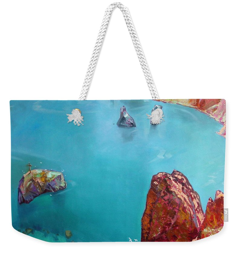 Ignatenko Weekender Tote Bag featuring the painting Cape Fiolent by Sergey Ignatenko