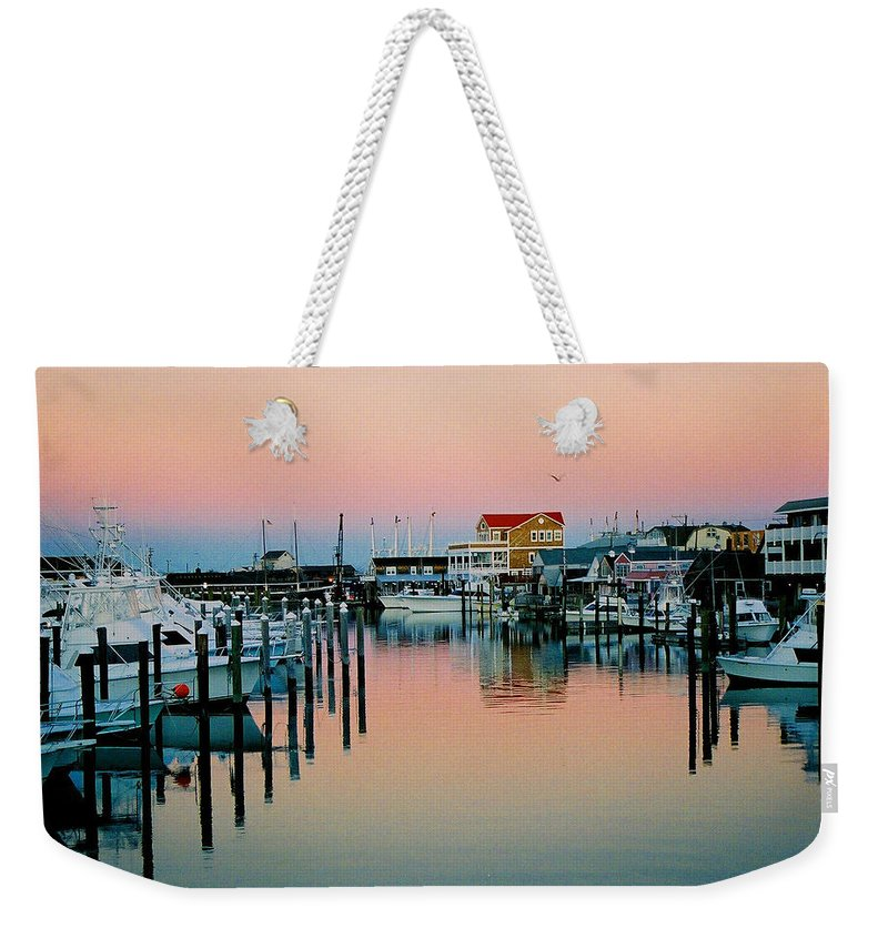 Cape May Weekender Tote Bag featuring the photograph Cape May After Glow by Steve Karol