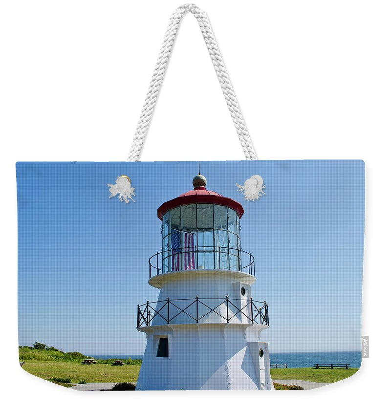 Cape Weekender Tote Bag featuring the photograph Cape Mendocino Lighthouse by Mindy Linford