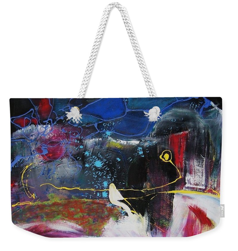 Abstract Weekender Tote Bag featuring the painting Cape Spear by Seon-Jeong Kim