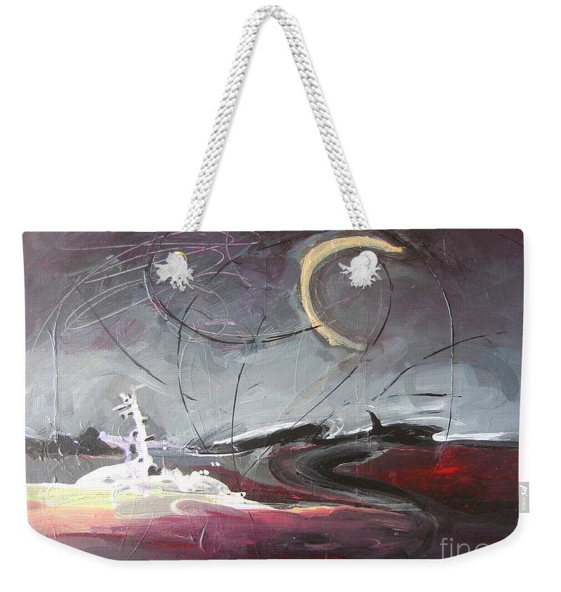 Abstract Paintings Weekender Tote Bag featuring the painting Cape St. Mary by Seon-Jeong Kim