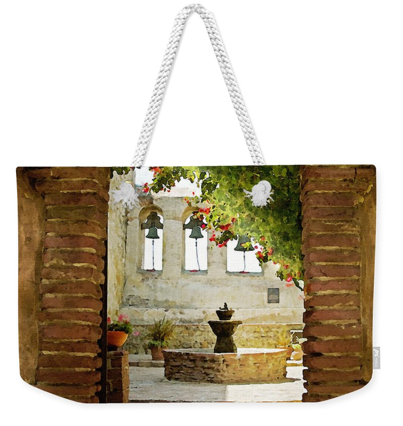 Architecture Weekender Tote Bag featuring the photograph Capistrano Gate by Sharon Foster