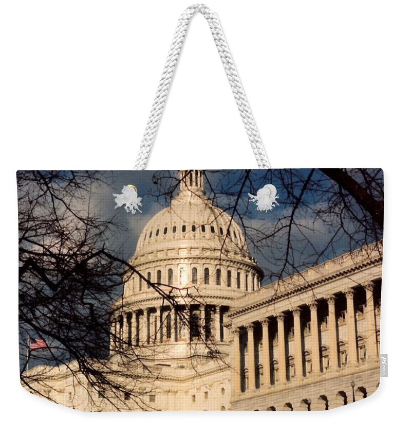 Capitol Building Weekender Tote Bag featuring the photograph Capitol Building by Lauri Novak