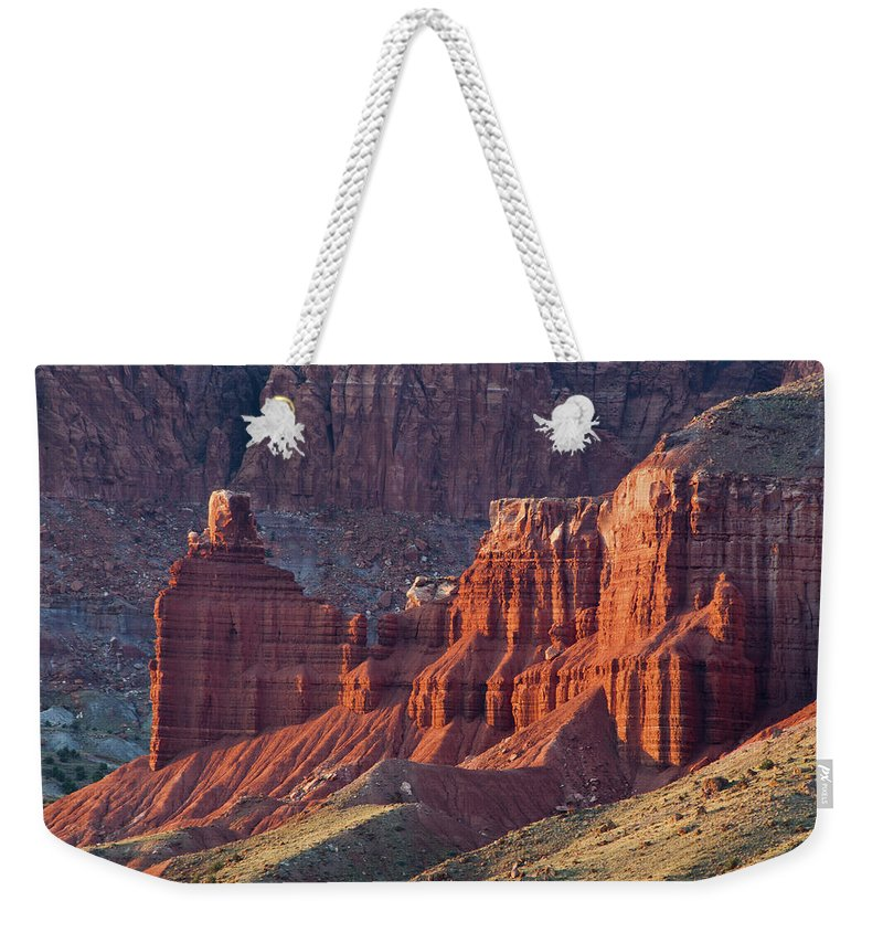 Canyon Weekender Tote Bag featuring the photograph Capitol Reef 0706 by Bob Neiman