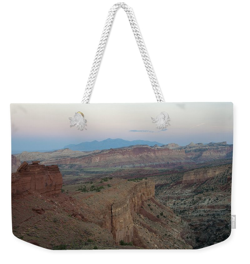 Sunrise Weekender Tote Bag featuring the photograph Capitol Reef 0716 by Bob Neiman