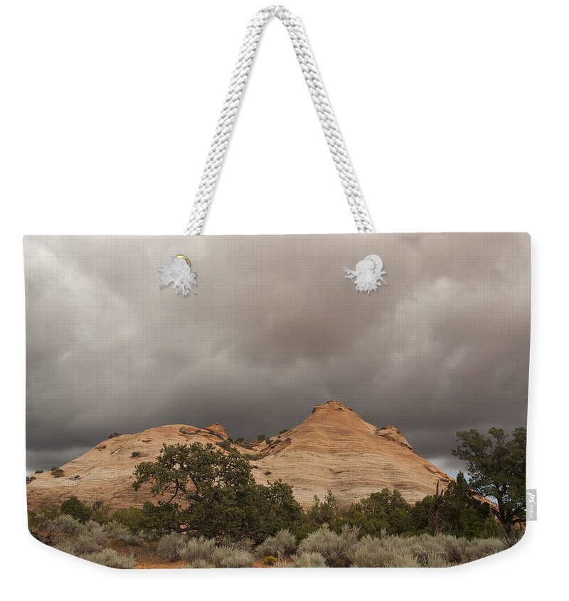 Sky Weekender Tote Bag featuring the photograph Capitol Reef 9471 by Bob Neiman