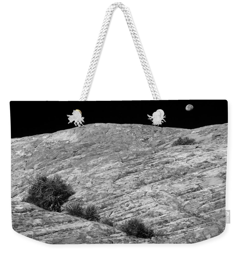 Moon Weekender Tote Bag featuring the photograph Capitol Reef 9701 by Bob Neiman