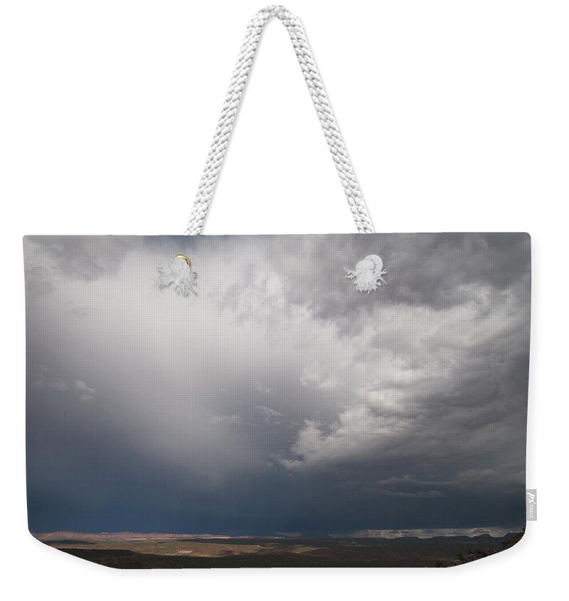 Canyon Weekender Tote Bag featuring the photograph Capitol Reef Storm 9977 by Bob Neiman