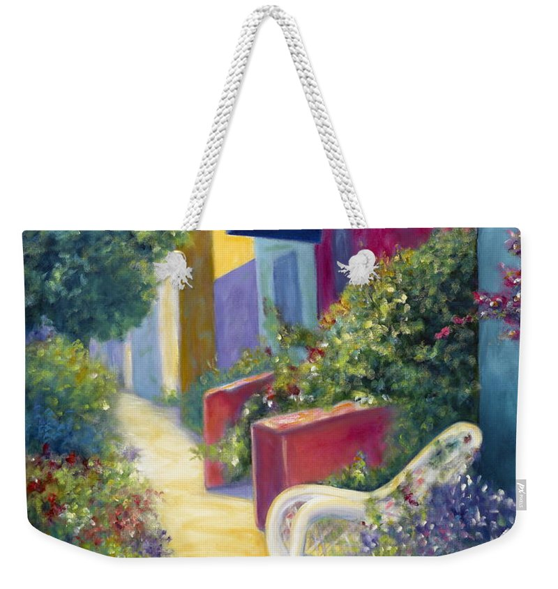Capitola Weekender Tote Bag featuring the painting Capitola Dreaming by Shannon Grissom