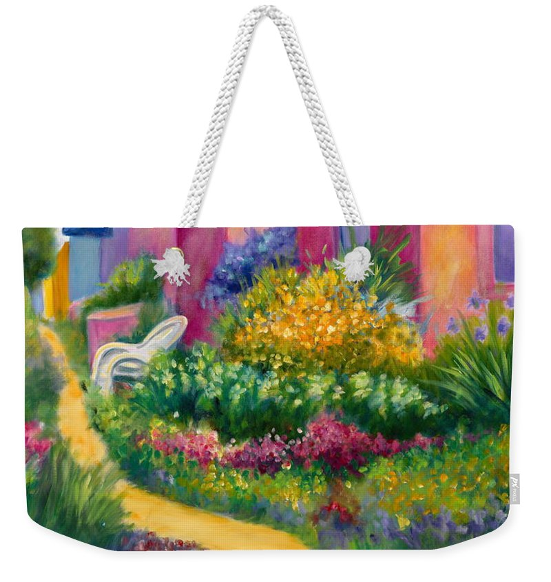 Landscape Weekender Tote Bag featuring the painting Capitola Dreaming Too by Shannon Grissom
