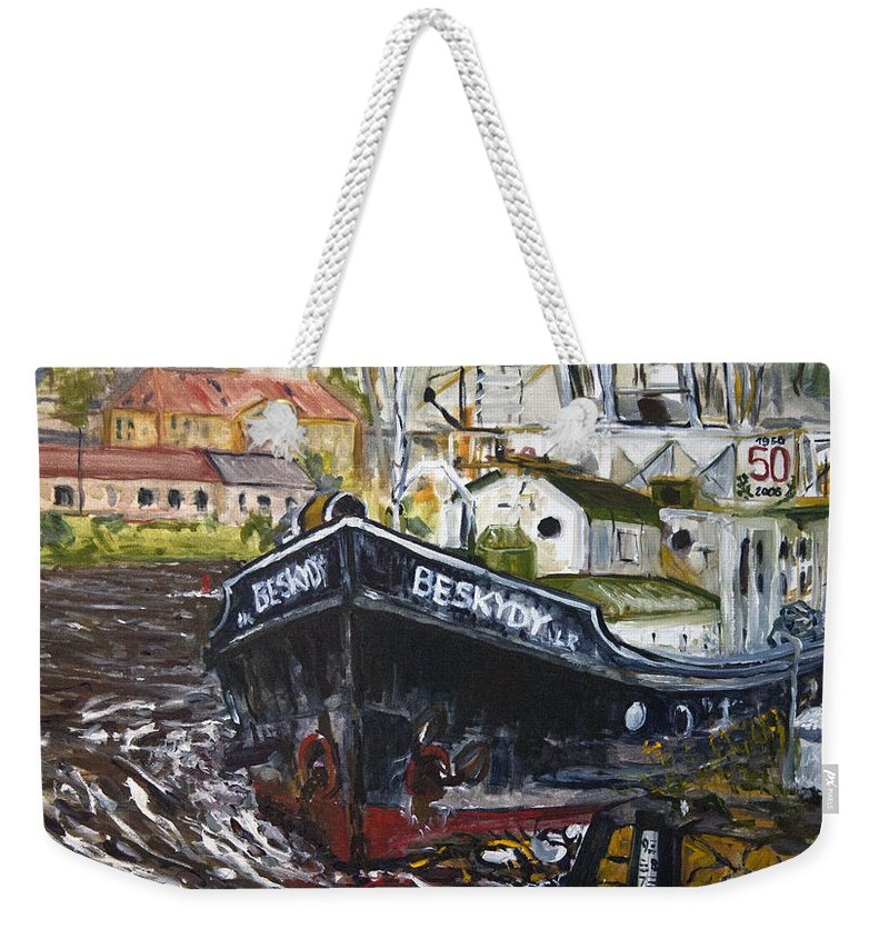 Landscape Weekender Tote Bag featuring the painting capo Jirka by Pablo de Choros