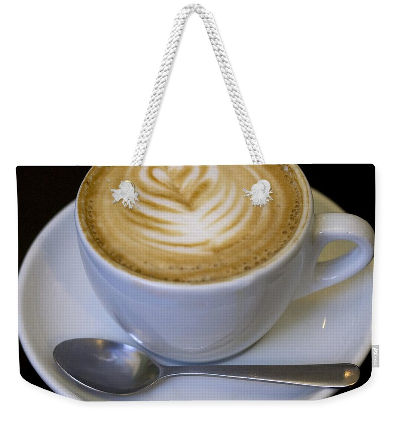 Coffee Weekender Tote Bag featuring the photograph Cappuccino by Tim Nyberg