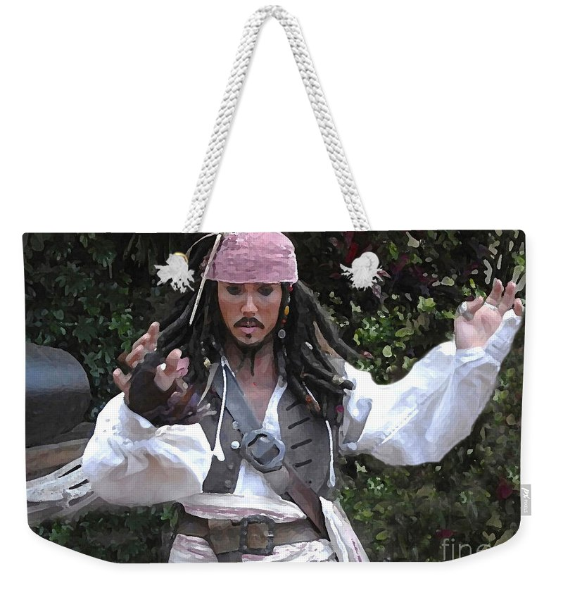 Captain Weekender Tote Bag featuring the photograph Captain Sparrow by David Lee Thompson