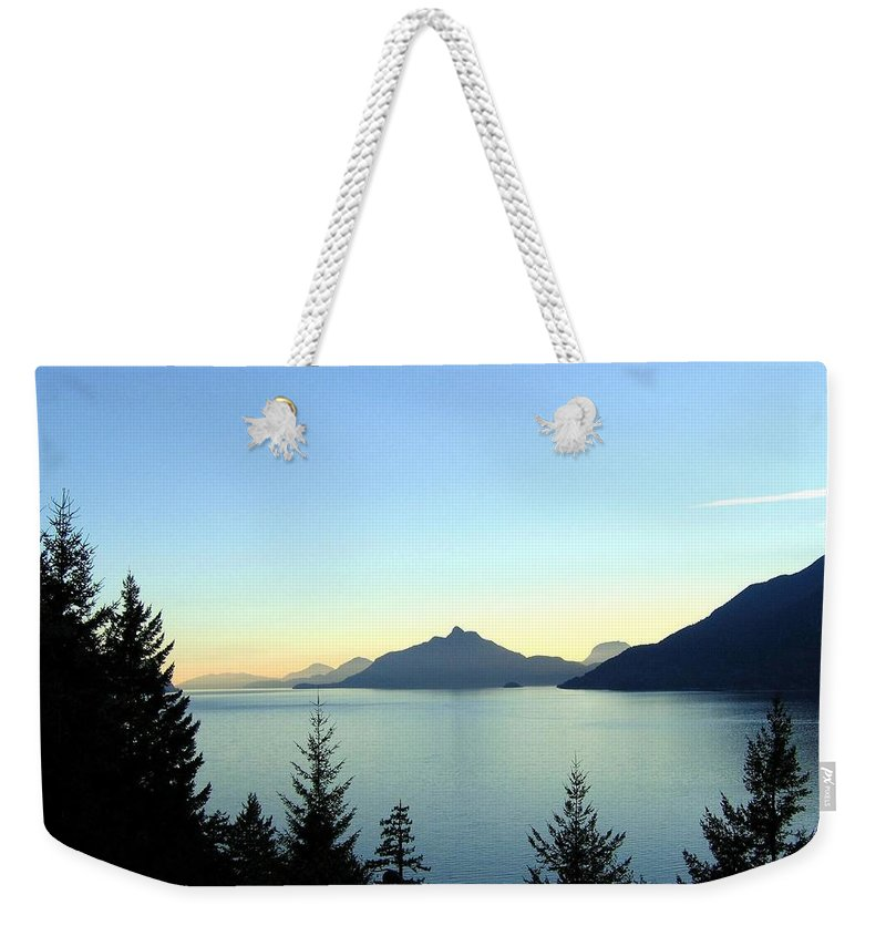 Howe Sound Weekender Tote Bag featuring the photograph Captivating Howe Sound by Will Borden