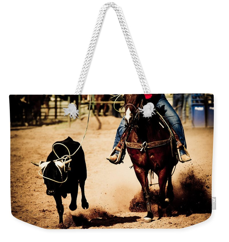 Western Weekender Tote Bag featuring the photograph Capture by Scott Sawyer