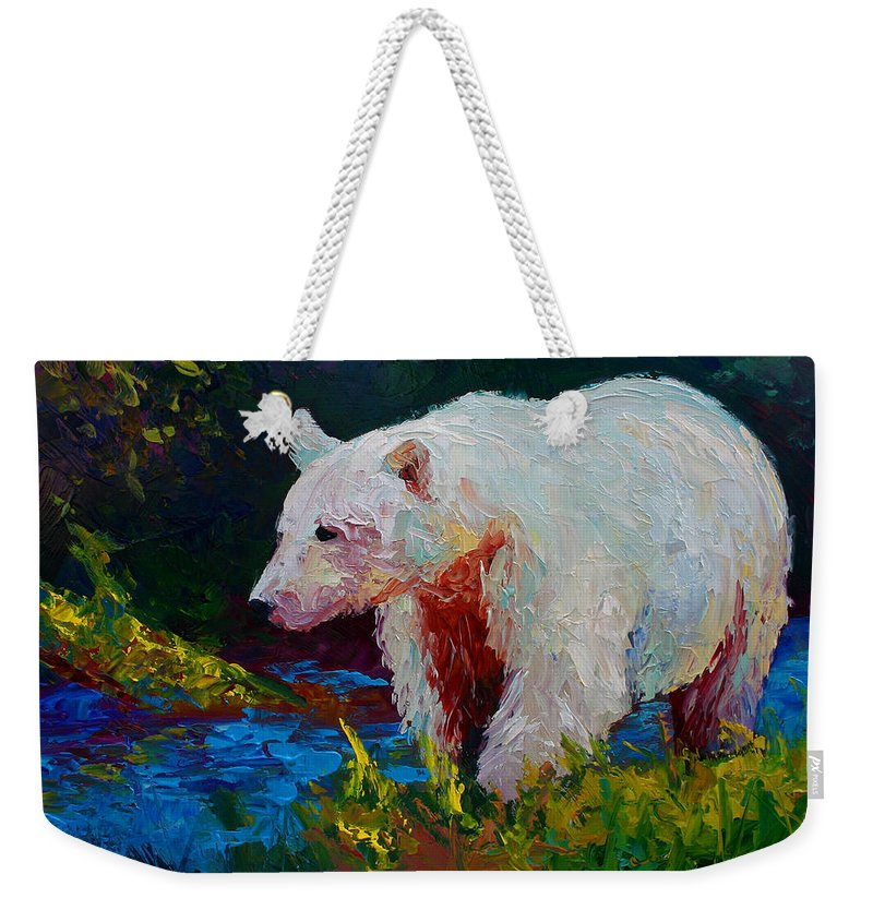 Western Weekender Tote Bag featuring the painting Capture The Spirit by Marion Rose