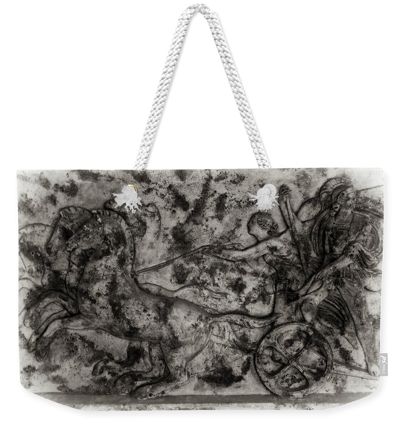 Chariot Weekender Tote Bag featuring the photograph Captured Chariot by Scott Wyatt