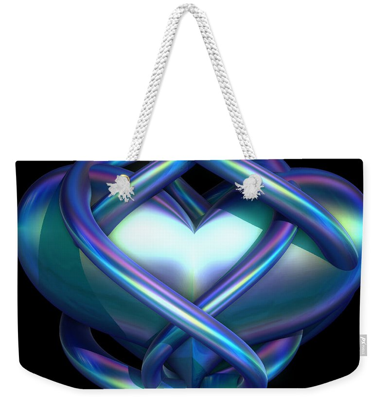Heart Weekender Tote Bag featuring the digital art Captured Heart by Sara Raber