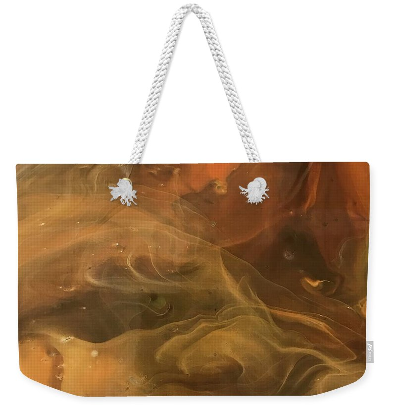Acrylic Weekender Tote Bag featuring the painting Caramel Cream by A Billings