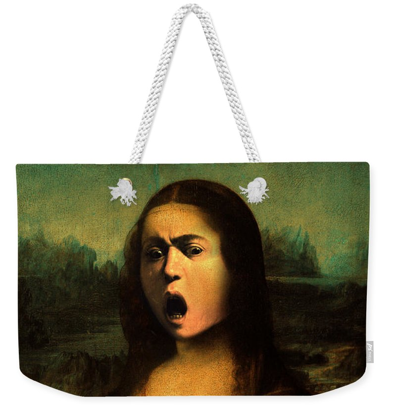 Caravaggio Weekender Tote Bag featuring the painting Caravaggio's Mona by Gravityx9 Designs