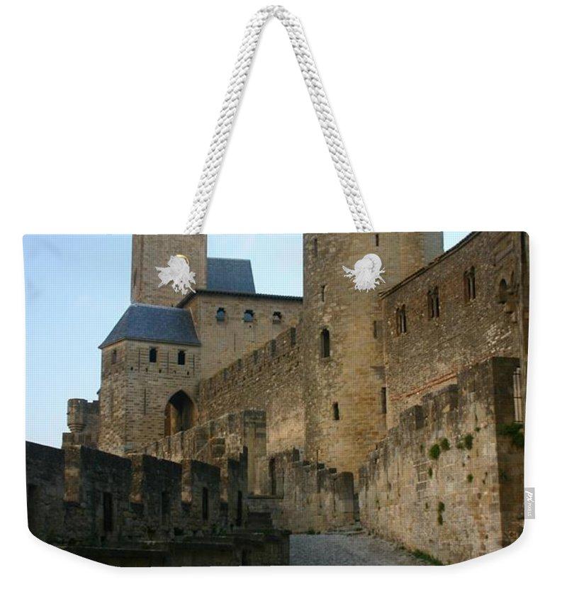 Castle Weekender Tote Bag featuring the photograph Carcassonne Castle by Minaz Jantz