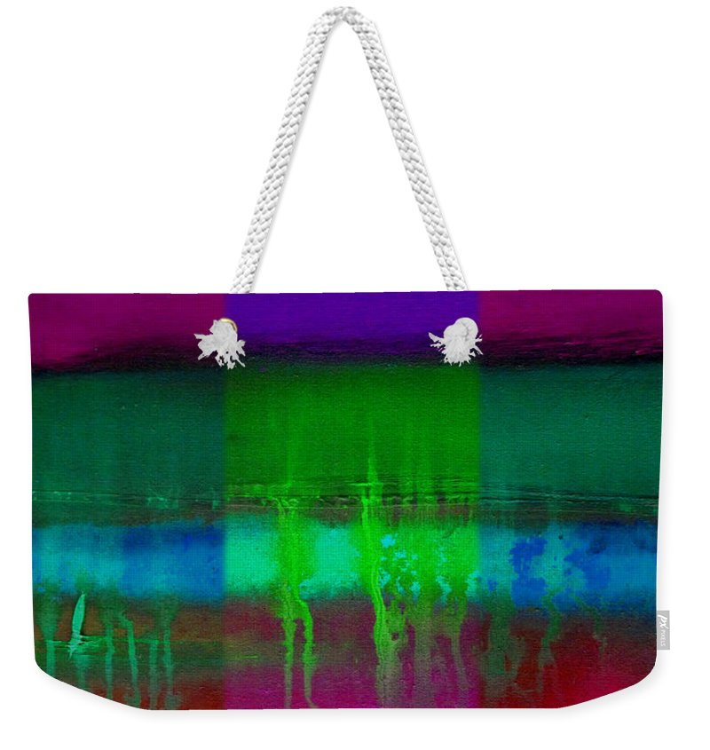 Landscape Weekender Tote Bag featuring the painting Cardinal Landscape by Charles Stuart