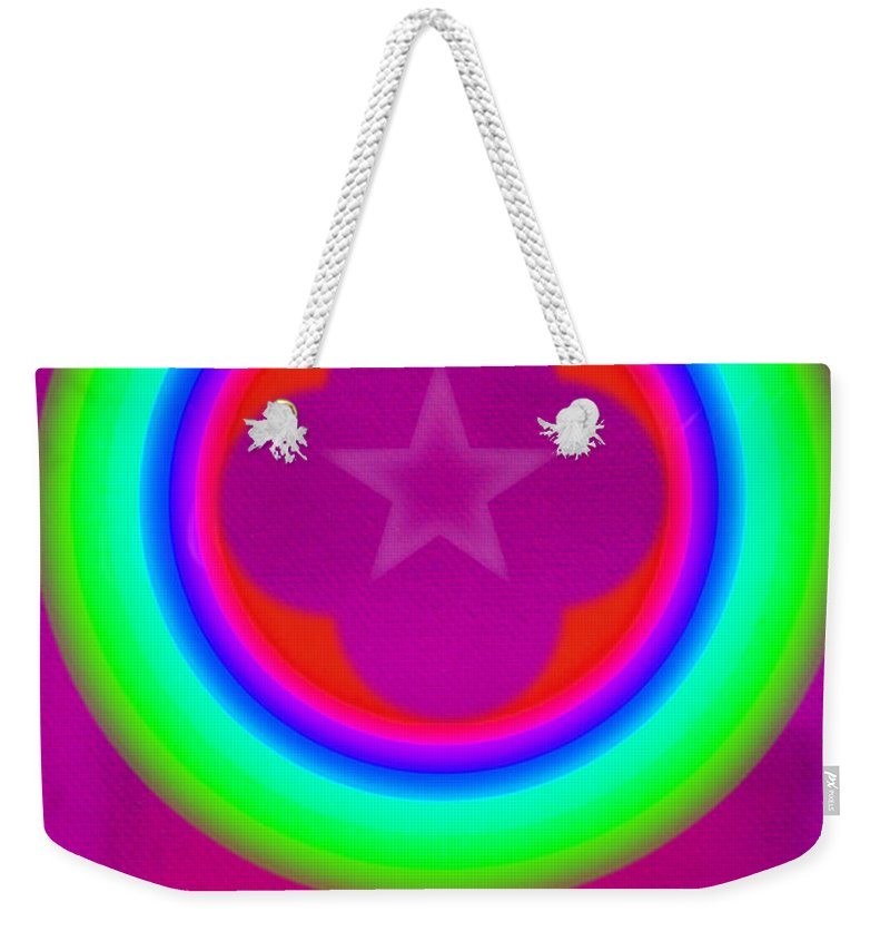 Abstract Weekender Tote Bag featuring the painting Cardinal See by Charles Stuart