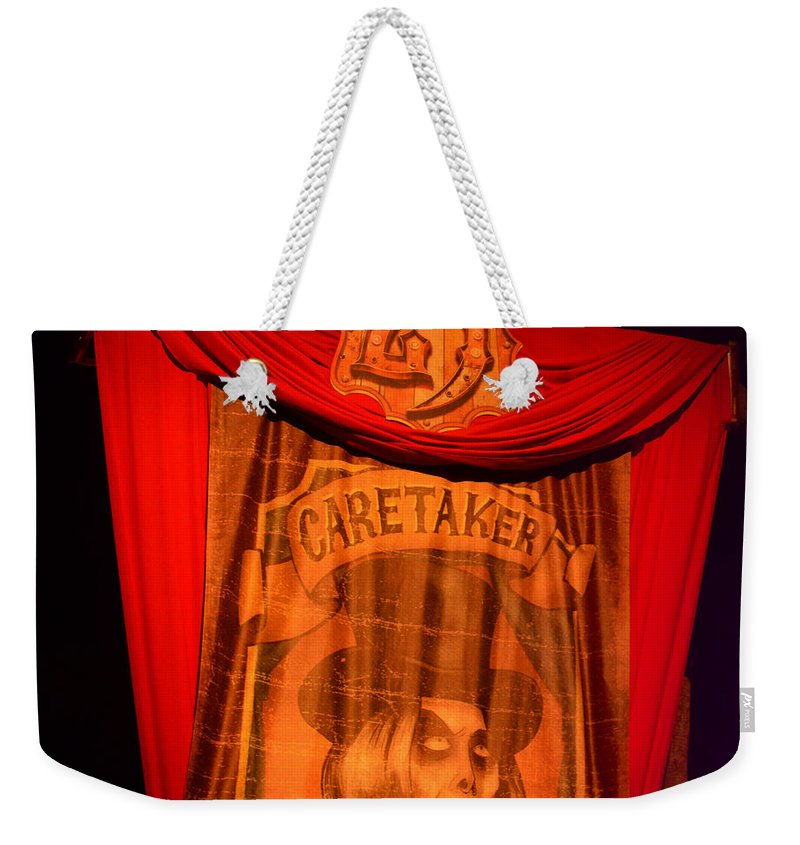 Hhn25 Weekender Tote Bag featuring the photograph Caretaker Banner by David Lee Thompson