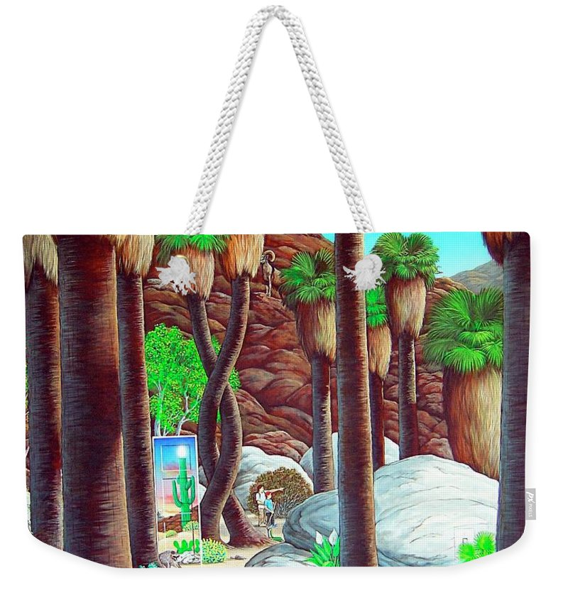 Canyon Weekender Tote Bag featuring the painting Caretaker by Snake Jagger