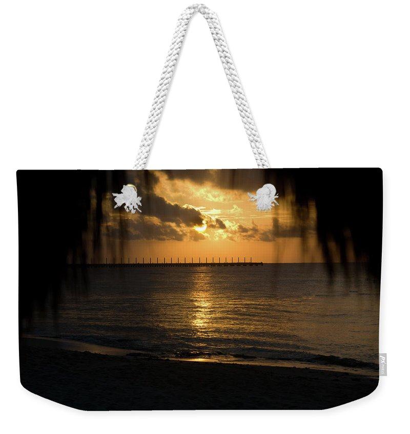 Joy Weekender Tote Bag featuring the photograph Caribbean Early Sunrise 5 by Douglas Barnett