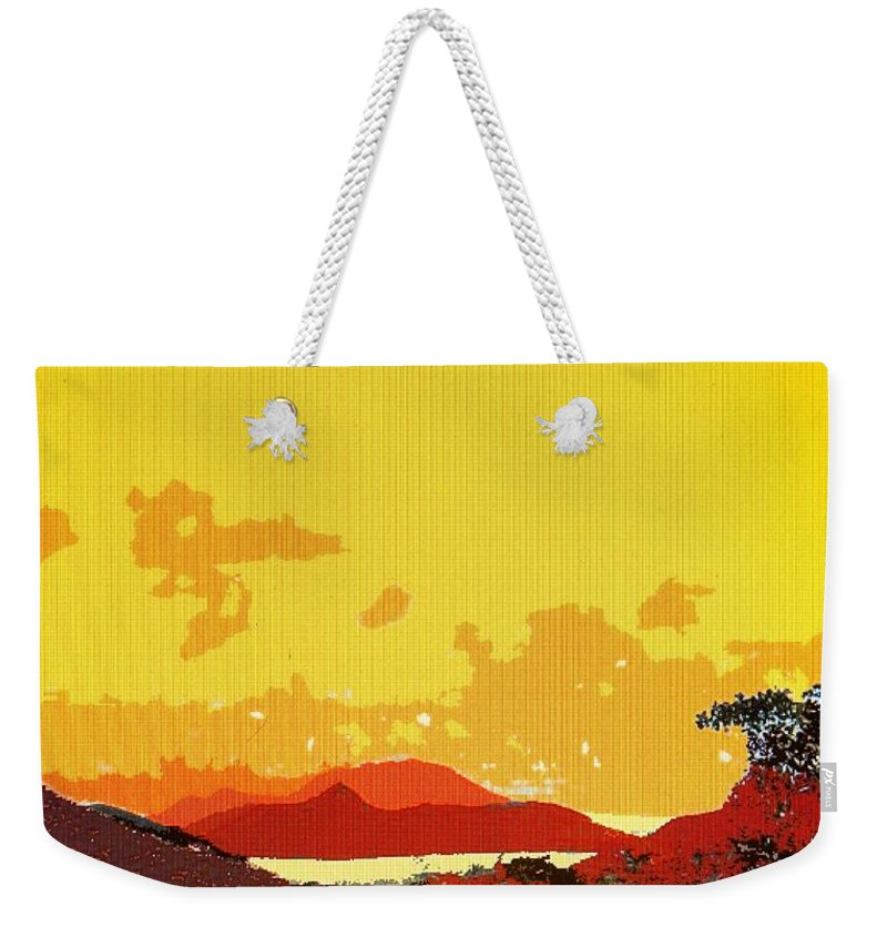 Caribbean Weekender Tote Bag featuring the photograph Caribbean Sky by Ian MacDonald