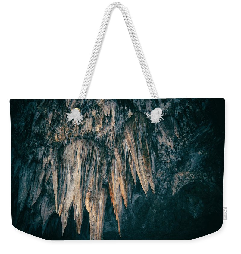 Carlsbad Caverns National Park Weekender Tote Bag featuring the photograph Carlsbad Caverns National Park Chandelier by Kyle Hanson