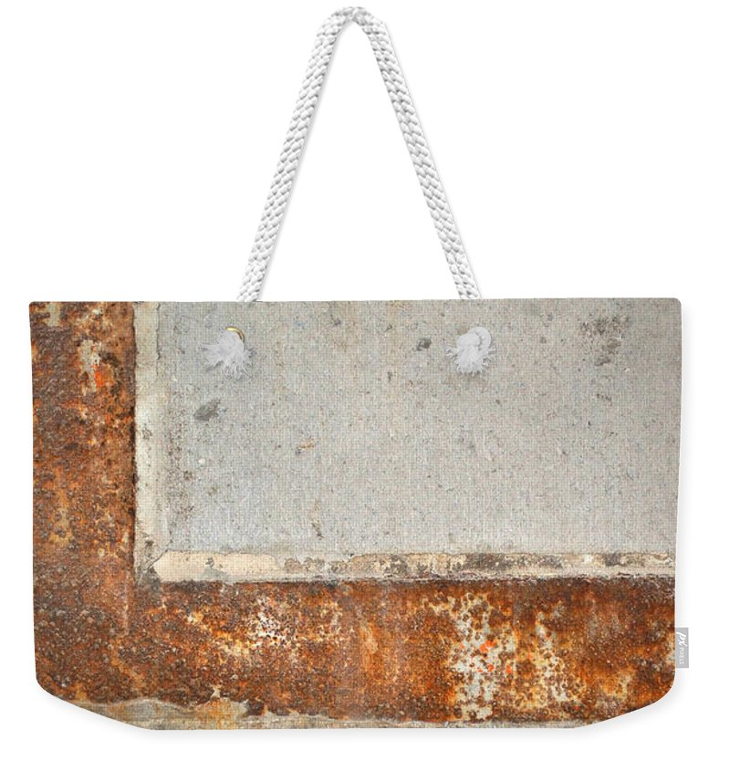 Architecture Weekender Tote Bag featuring the photograph Carlton 14 - Abstract Concrete Wall by Tim Nyberg
