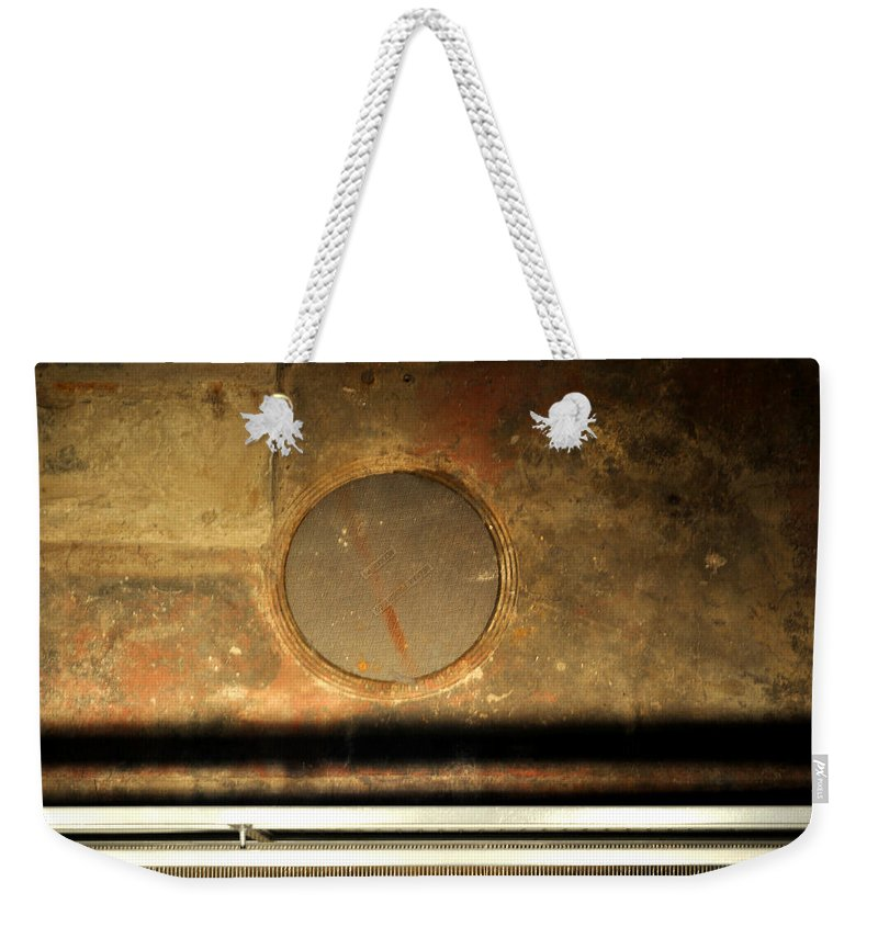 Manhole Weekender Tote Bag featuring the photograph Carlton 15 - Square Circle by Tim Nyberg
