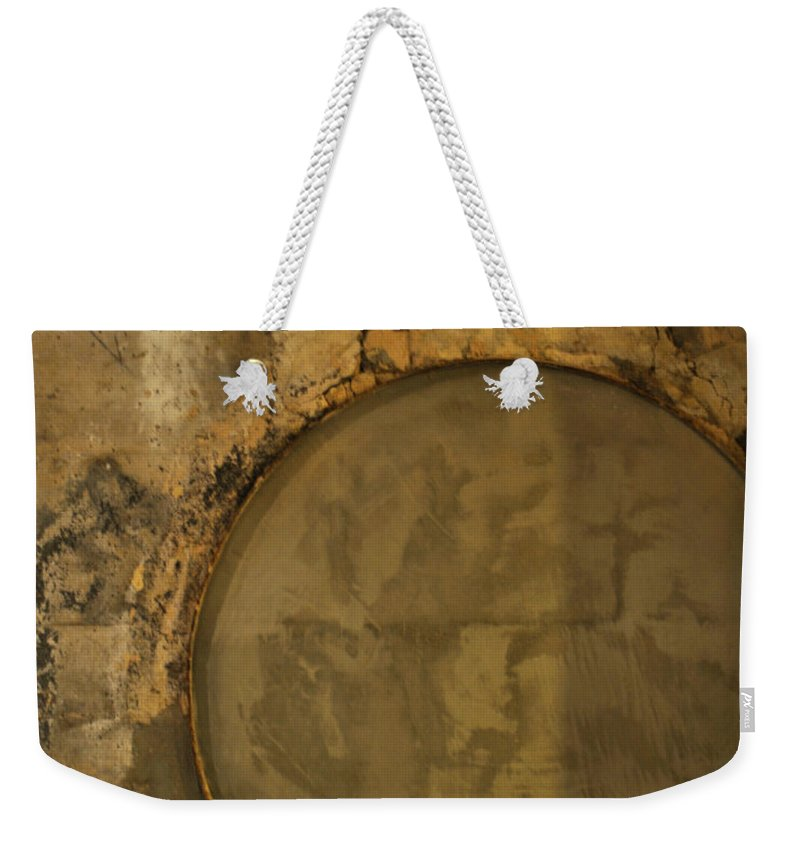 Concrete Weekender Tote Bag featuring the photograph Carlton 3 - Abstract Concrete by Tim Nyberg