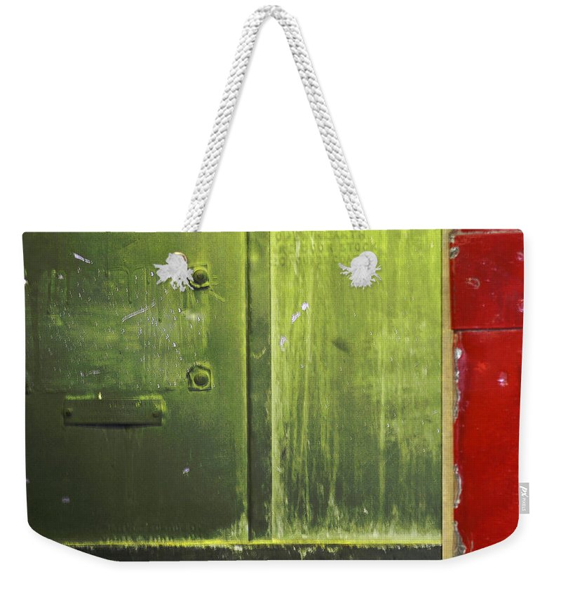 Metal Weekender Tote Bag featuring the photograph Carlton 6 - Firedoor Abstract by Tim Nyberg