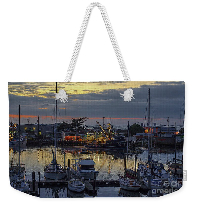 Carmel Weekender Tote Bag featuring the photograph Carmel Coast Marina by Yvette Wilson