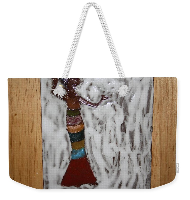 Jesus Weekender Tote Bag featuring the ceramic art Carmen - Tile by Gloria Ssali