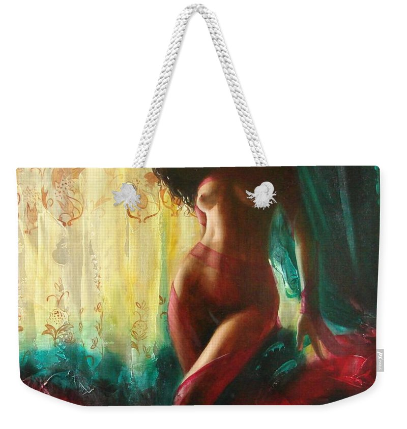 Art Weekender Tote Bag featuring the painting Carmen by Sergey Ignatenko