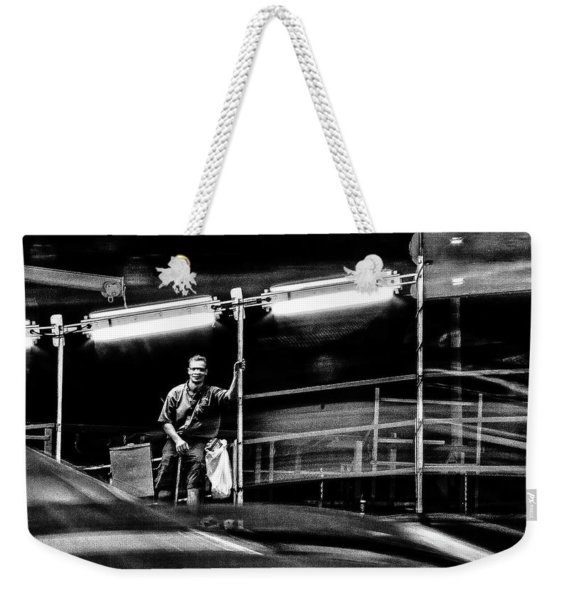 Weekender Tote Bag featuring the photograph Carney by Michael Nowotny
