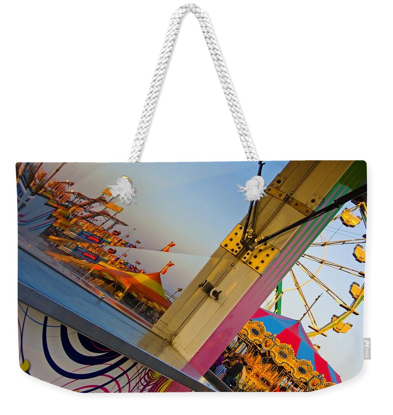 Carnival Weekender Tote Bag featuring the photograph Carnival 1 by Skip Hunt