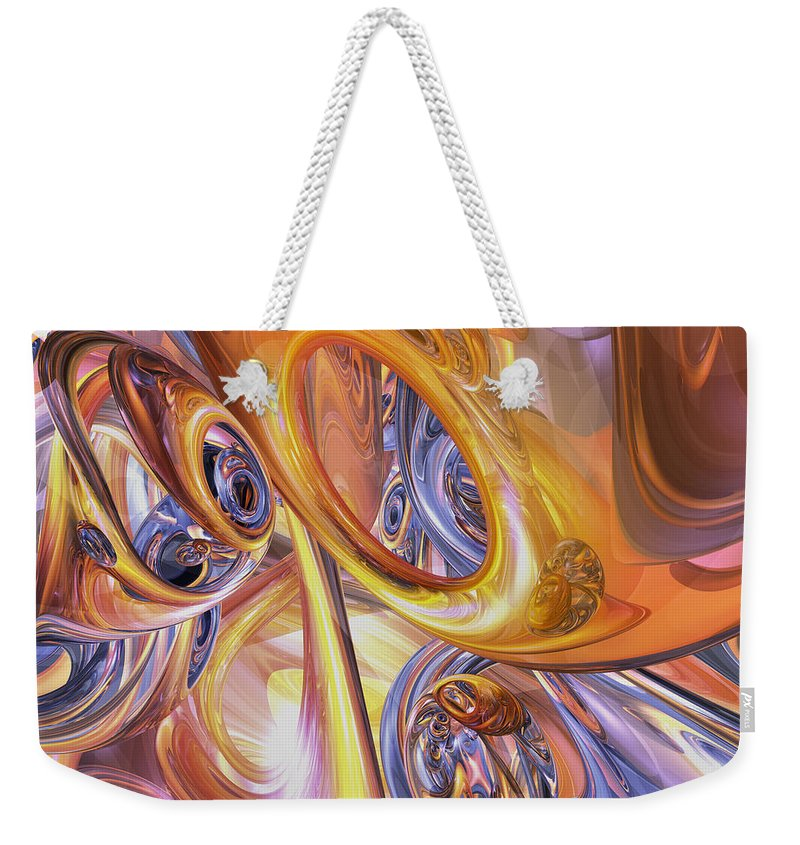 3d Weekender Tote Bag featuring the digital art Carnival Abstract by Alexander Butler
