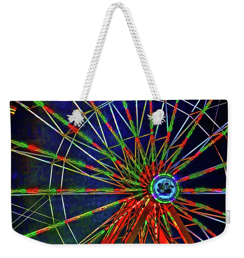 Digital Art Weekender Tote Bag featuring the digital art Carnival by David Stasiak