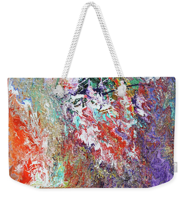 Fusionart Weekender Tote Bag featuring the painting Carnival by Ralph White
