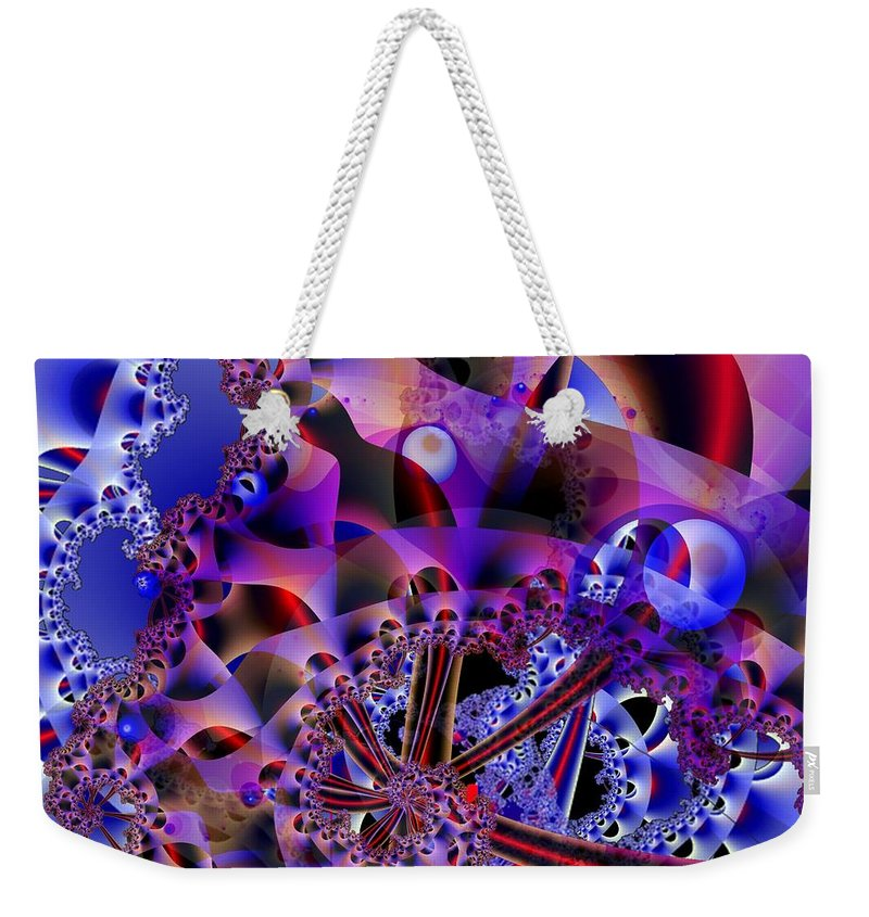 Carnival Weekender Tote Bag featuring the digital art Carnival by Ron Bissett