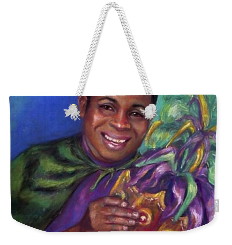 Pasel. Mardi Gras Weekender Tote Bag featuring the painting Carnival Time by Beverly Boulet