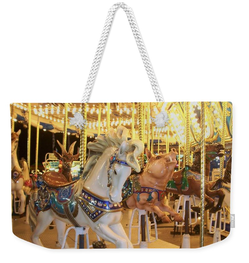 Carosel Horse Weekender Tote Bag featuring the photograph Carousel Horse 2 by Anita Burgermeister