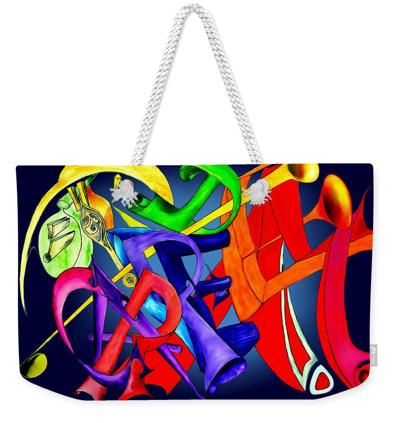 Carpediem Weekender Tote Bag featuring the painting Carpe Diem 2010 by Helmut Rottler