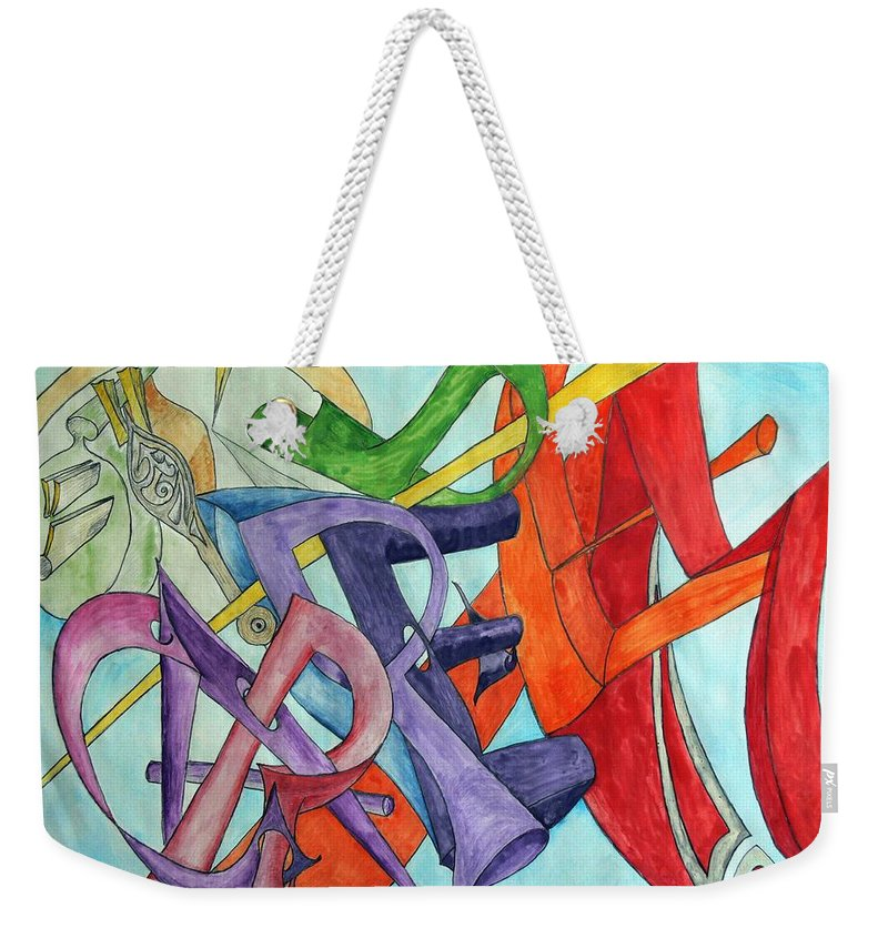 Carpe Diem Weekender Tote Bag featuring the painting Carpe Diem by Helmut Rottler