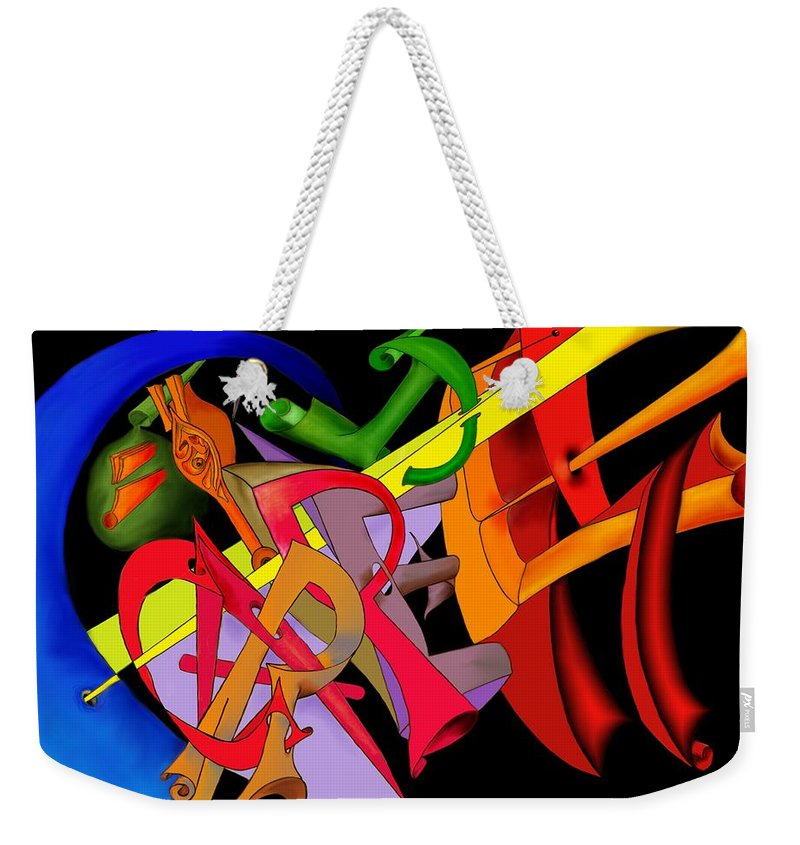 'carpe Diem' Weekender Tote Bag featuring the digital art Carpe Diem II by Helmut Rottler